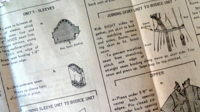 Seam binding instructions
